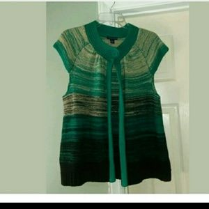 WESTBOUND PETITES MultiColor Green & Blue Sweater